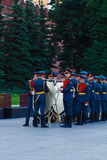 Change of the guard of honor of the Kremlin regiment at the tomb of the Unknown Soldier in the Alexander Garden Stock Photo