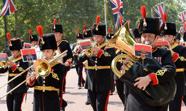 Change of the Guard, London stock image