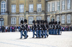 Change of guard at the Royal Palace Stock Photography