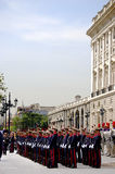 Change of the Guard. Royal Palace. Madrid, Spain Stock Images