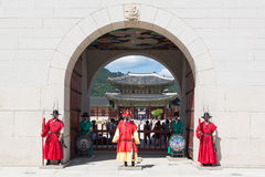 Change of the guard in Seoul Royal Palace Royalty Free Stock Photos
