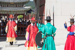 Change of the guard in Seoul Royal Palace Stock Image