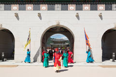 Change of the guard in Seoul Royal Palace Stock Photography