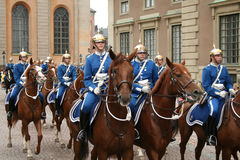 Change of the Guards. Change of the Royal Guards, Stockholm stock photos