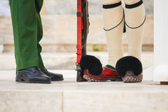 Change of guards in Athens, Greece. Royalty Free Stock Photos