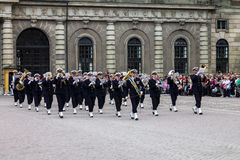 Change of Guards Band Stockholm Sweden Stock Photos