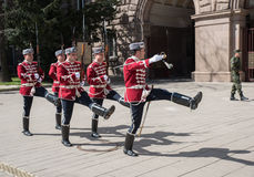 Change of guards at the office of Bulgaria's President Stock Image