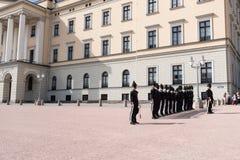 Change of Guards at Royal Palace at Summer Stock Photo