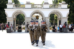 Change Guards by Tomb of the Unknown Soldier Royalty Free Stock Image