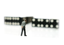 Change Happens. Concept image depicting change/domino effect. i.e. unemployment or retirement. Copy space Royalty Free Stock Images