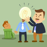Change a  heads. Illustration of business cartoon  Change a heads Stock Images