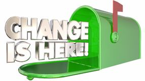 Change is Here Mailbox Message Alert Adapt Royalty Free Stock Photography