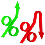 Change in interest rates. Conceptual 3D image Stock Image
