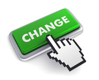 Change keyboard concept 3d illustration Royalty Free Stock Photos