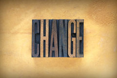 Change Letterpress Royalty Free Stock Image