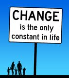 Change life family. Life and circumstances always changing and evolving Royalty Free Stock Image
