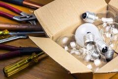 Change light bulb Stock Images