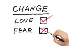 Change, love or fear Stock Photography