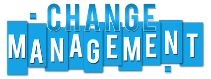 Change Management Blue Stripes Royalty Free Stock Photos