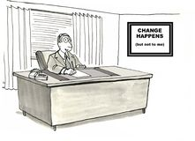 Change Management. Change Happens --- but not to me Royalty Free Stock Photography