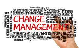 Change management with related word cloud Royalty Free Stock Photography