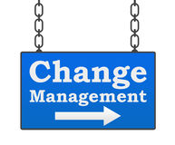 Change Management Signboard Royalty Free Stock Photo