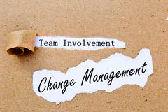 Change Management - Team Involvement - successful strategies for change management Stock Photography