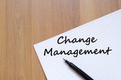 Change management write on notebook Stock Image