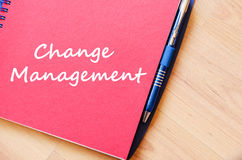 Change management write on notebook Royalty Free Stock Images