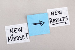 Change Mindset Concept. New mindset new results concept royalty free stock photography