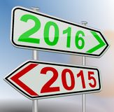2016 2015 change. New year Stock Photo