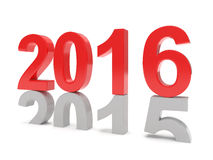 2015-2016 change new year 2016. Isolated Stock Photos