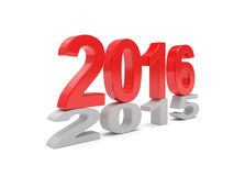 2015-2016 change new year 2016 Stock Images