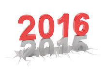 2015-2016 change new year 2016. Isolated Royalty Free Stock Photos