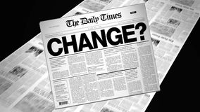 Change? - Newspaper Headline stock video