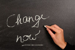Change now Royalty Free Stock Image