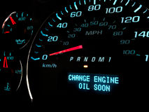 Change Oil soon warning light Stock Image