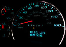Change Oil soon warning light Royalty Free Stock Photo