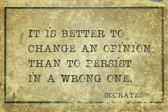 Change an opinion Socrates stock photos