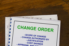 Change Order Royalty Free Stock Photos