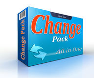 Change pack conceptual offer pack Stock Photo