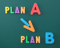 Change of plan Stock Photo