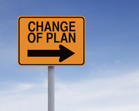 Change of Plan Stock Image