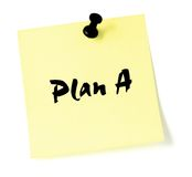 Change Plan A Note  Royalty Free Stock Photo
