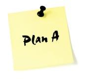 Change Plan A Note  Royalty Free Stock Photo