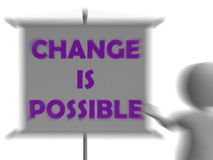 Change Is Possible Board Displays Possible Improvement Stock Images