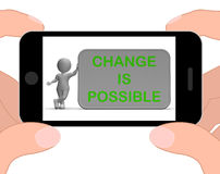 Change Is Possible Phone Means Rethink And Revise Stock Images