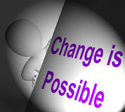 Change Is Possible Sign Displays Reforming And Improving Royalty Free Stock Photo