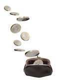 Change Purse And Coins Stock Photography