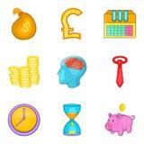 Change purse icons set, cartoon style. Change purse icons set. Cartoon set of 9 change purse vector icons for web isolated on white background Stock Images